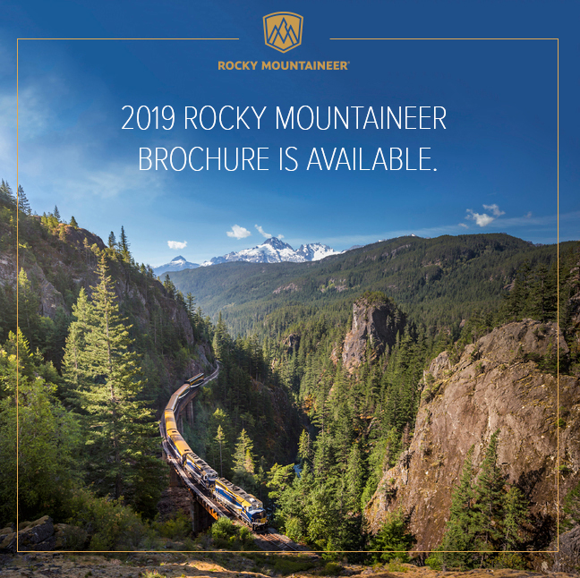 2019 Rocky Mountaineer Brochure is available